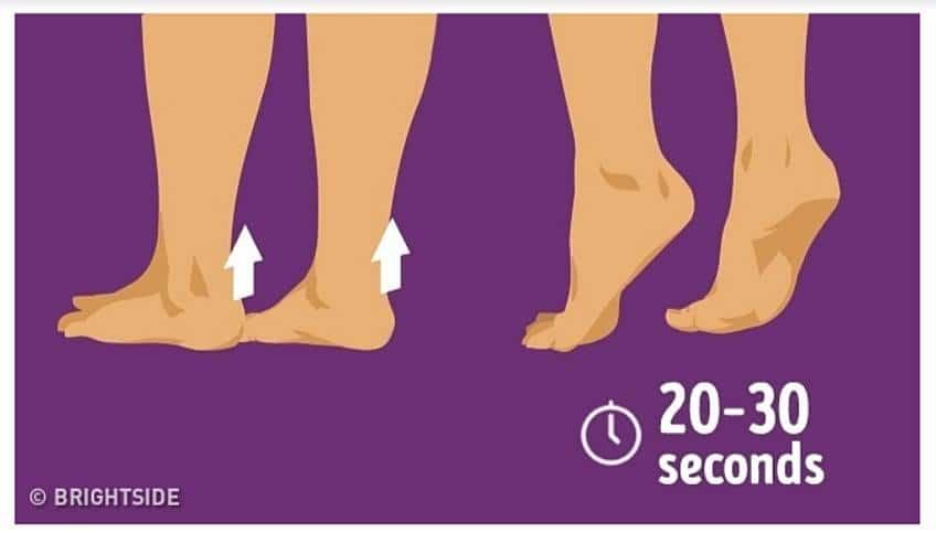 การบริหาร เขย่งเท้า ปัญหาเท้าแบน